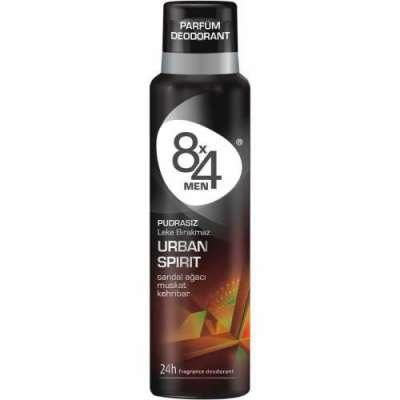 8x4 - 8X4 Urban Spirit 150 ml Erkek Deodorant