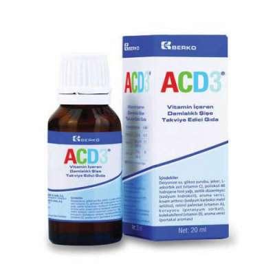 ACD3 - ACD3 Damla Vitamin Takviyesi 20 ml
