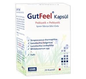 Assos - Assos Gutfeel Probiotik Prebiotik 20 Kapsül