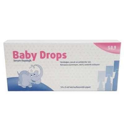 Baby Drops - Baby Drops Fizyolojik Göz ve Burun Serumu 10x5 ml