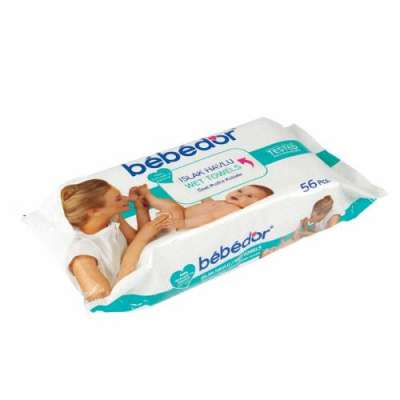 Bebedor - Bebedor Islak Havlu 56 Adet (Tekli Paket)