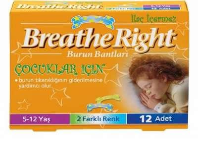 Breath Right - Breathe Right Çocuklar için Burun Bandı 12 Flaster