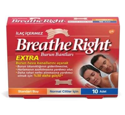 Breath Right - Breathe Right Extra Standart Boy Burun Bandı 10 Flaster