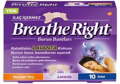 Breath Right - Breathe Right Lavanta Standart Boy Burun Bandı 10 Flaster