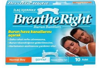 Breath Right - Breathe Right Şeffaf Normal Boy Burun Bandı 10 Flaster