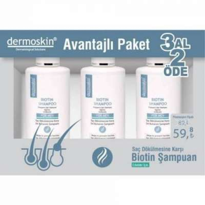 Dermoskin - Dermoskin Biotin Şampuan Erkek 200 ml 3 Al 2 Öde