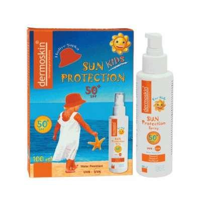 Dermoskin - Dermoskin Sun Protection Kids Spf 50 + Spray 100 ml Şapka Hediyeli