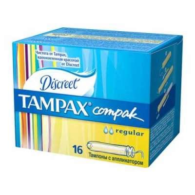 Discreet - Discreet Tampax Compak Regular (Normal) 16 Adet