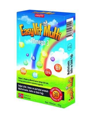EasyVit - EasyVit Multi Omega 3 Çiğnenebilir 30 Tablet