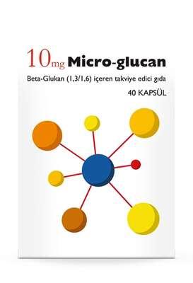 Micro Glucan - Micro Glucan 10 mg Gıda Takviyesi 40 Kapsül