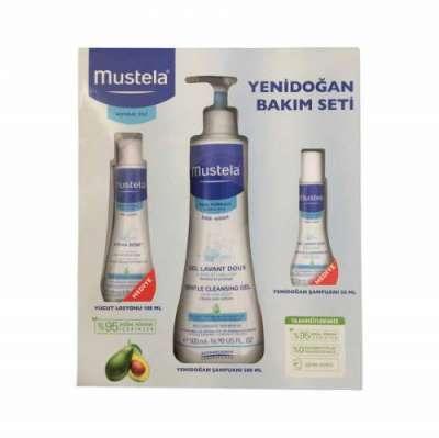Mustela - Mustela Yenidoğan Bakım Seti (Dermo Cleansing Bebek Şampuanı 500 ml+Hydra Bebe Vücut Losyonu 100 ml+Yenidoğan Şampuan 50 ml)