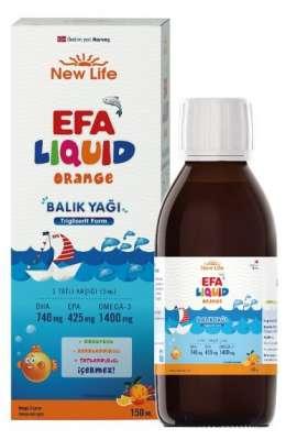 New Life - NewLife Efa Liquid Balık Yağı 150 ml-Portakal