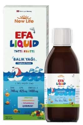 New Life - NewLife Efa Liquid Balık Yağı 150 ml-Tutti Frutti