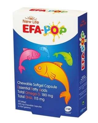 New Life - New Life Efa Pop Çiğnenebilir Omega 3 30 Kapsül