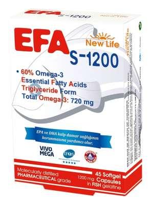 New Life - New Life Efa S 1200 Omega 3 45 Kapsül