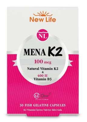 New Life - NewLife Mena K2 D Vitaminli 30 Kapsül