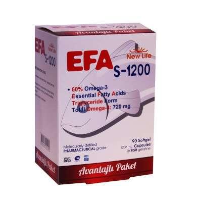 New Life - NewLife Efa S 1200 Omega 3 90 Kapsül