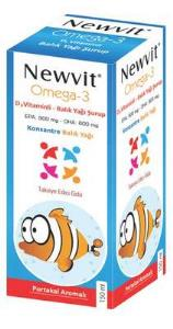 Newvit - Newvit Omega 3 Şurup 150 ml