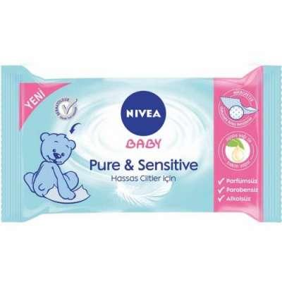 Nivea - Nivea Baby Pure Sensitive Islak Mendil 40 Adet