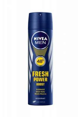 Nivea - Nivea Fresh Power Boost Sprey Deodarant 150 ml Erkek