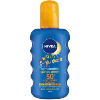 Nivea - Nivea Sun Çocuk Renkli Nemlendirici Güneş Spreyi Spf 50+ 200 ml