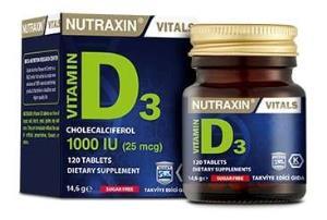 Nutraxin - Nutraxin Vitamin D3 1000 IU 120 Tablet