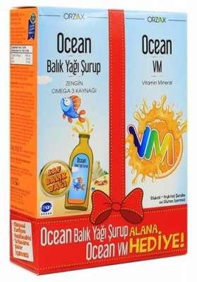 Ocean - Ocean Portakallı Balık Yağı 150 ml - Ocean VM Hediyeli