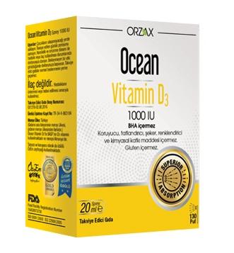 Ocean - Ocean Vitamin D3 Sprey 1000 IU 20 ml