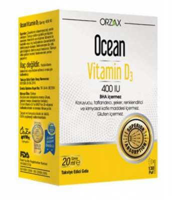 Ocean - Ocean Vitamin D3 Sprey 400 IU 20 ml