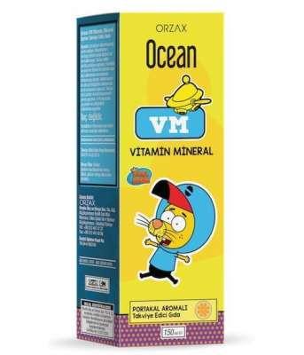 Ocean - Ocean VM Multivitamin Takviyesi 150 ml - Portakal Aromalı