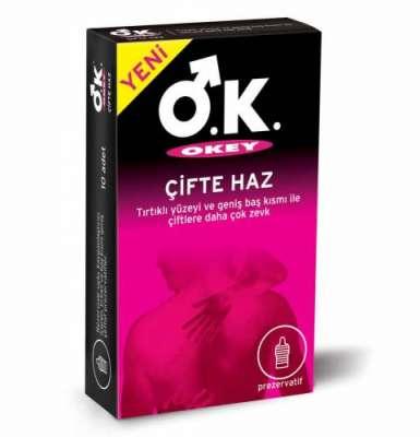 Okey - Okey Prezervatif Çifte Haz 10 Adet