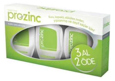 Proznc - Prozinc Kuru Saçlar İçin Şampuan Yeşil Set 3x300 ml