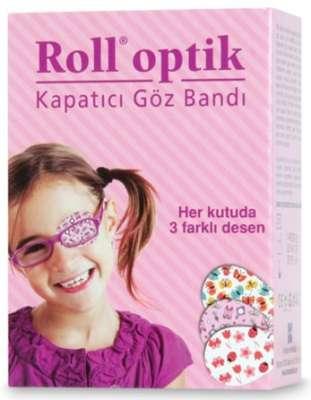 Roll Optik - Roll Optik Kapatıcı Göz Bandı 50 Adet - Kız