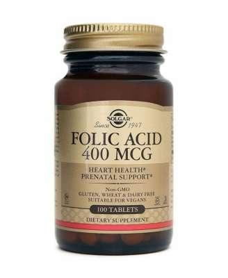 Solgar - Solgar Folic Acid (Folacin) 400 mcg 100 Tablet