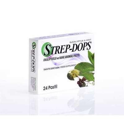 Strep-Dops - Strep Dops Okaliptus ve Nane Aromalı 24 Adet