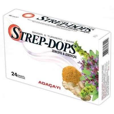 Strep-Dops - Strep Dops Zencefil ve Zerdeçal Aromalı 24 Adet
