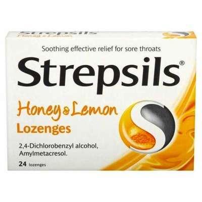 Strepsils - Strepsils Bal Limon Aromalı 24 Adet