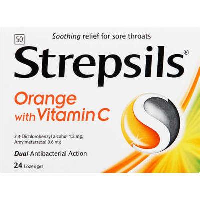 Strepsils - Strepsils C Vitaminli Portakal Aromalı 24 Adet