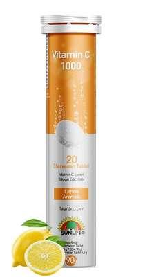Sunlife - Sunlife C Vitamini 1000 mg 20 Efervesan Tablet