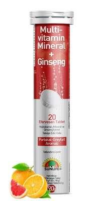 Sunlife - Sunlife Multivitamin Ginseng 20 Efervesan Tablet