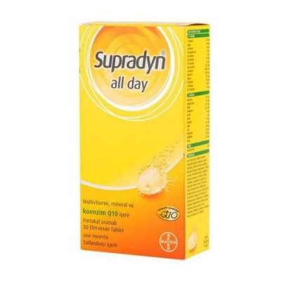 Supradyn - Supradyn All Day Suda Eriyen 30 Tablet