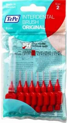 Tepe - Tepe Diş Arası Fırçası 0.5 mm Kırmızı 8 Adet