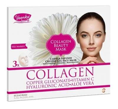 Voonka - Voonka Beauty Collagen Yüz Güzellik Maskesi 3 Adet