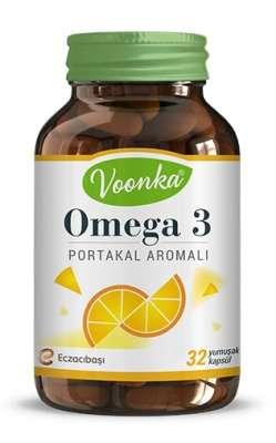 Voonka - Voonka Omega 3 Portakal Aromalı 32 Kapsül