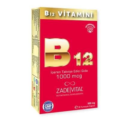 Zade Vital - Zade Vital B12 Vitamini 30 Kapsül