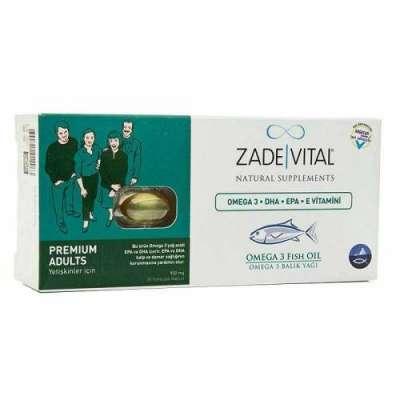 Zade Vital - Zade Vital Omega 3 Premium Yetişkin 30 Kapsül